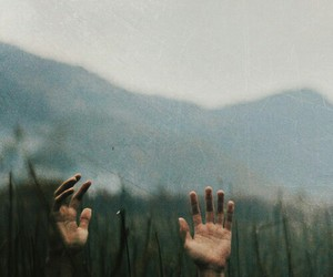 hands, nature, and grunge image