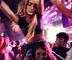 girl, party, and concert image