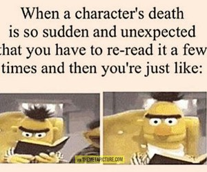 book, character, and death image