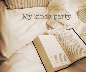 book, party, and bed image