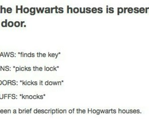 funny, harry potter, and house image