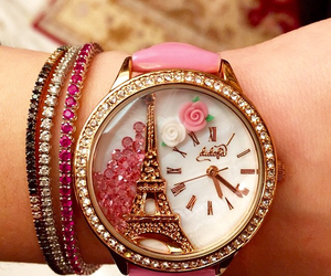watch, paris, and pink image