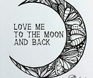 forever, moon, and you image