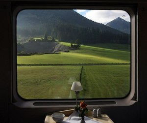 train, nature, and green image