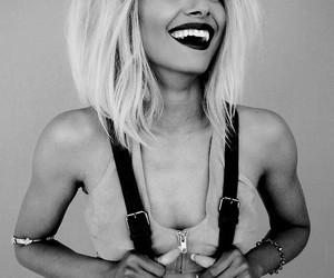 kat graham, smile, and blonde image