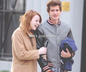 emma stone, peter parker, and movie quotes image