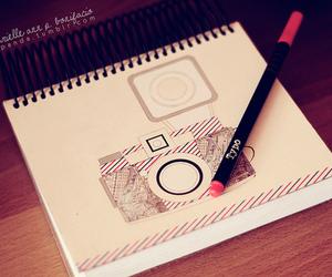 camera and drawing image