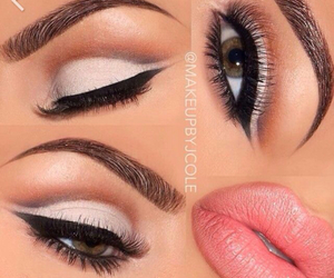 lips, makeup, and eyes image