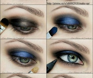 black, eyes, and make up image
