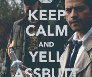 supernatural, castiel, and assbutt image