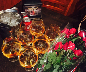 champagne, party, and rose image