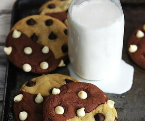 milk, Cookies, and chocolate image