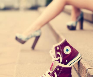 converse, shoes, and heels image