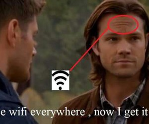 funny, supernatural, and jared padalecki image