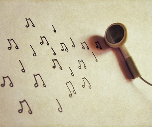 headphones, music, and musical notes image
