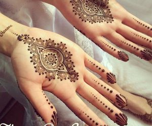 bride, design, and henna image