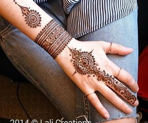 bride, indian, and design image