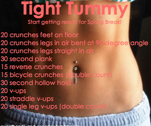 fitness, workout, and tight tummy image
