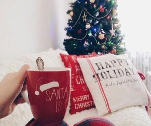 beautiful, santa, and happy holiday image