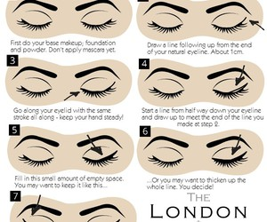eyeliner, make up, and tips image