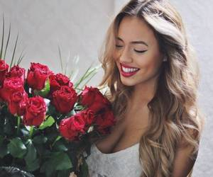 girl, roses, and beautiful image