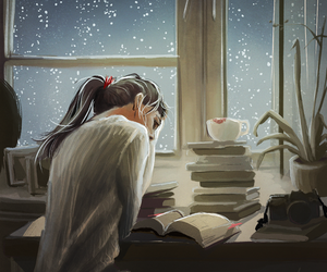 book, books, and winter image
