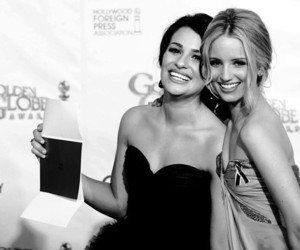 glee, dianna agron, and lea michele image