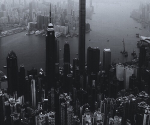 city, black and white, and black image