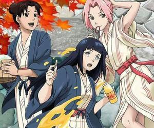 naruto, sakura, and hinata image