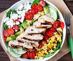 Chicken and salad image