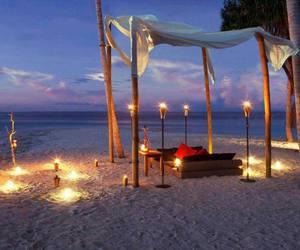 romantic, beach, and sea image