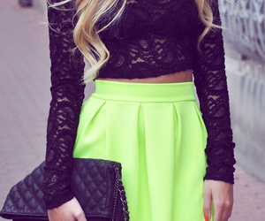 fashion, black, and neon image