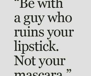 lipstick, mascara, and guy image