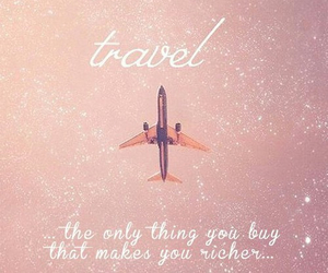pink, plane, and travel image