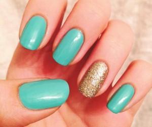 fashion, glitter, and nails image