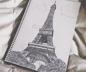 drawing, paris, and art image