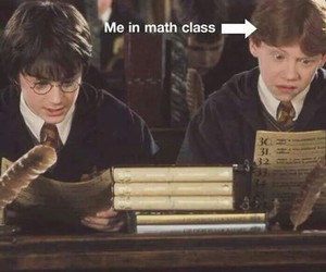 harry potter, math, and funny image