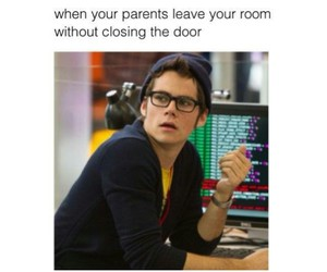 parents, funny, and dylan o'brien image