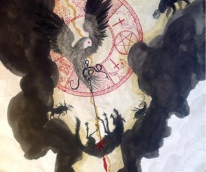 magick, wolf, and wicca image