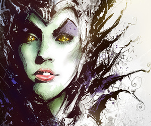 disney, maleficent, and art image