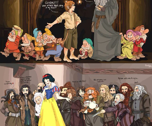 snow white, dwarf, and gandalf image