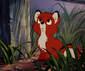 disney, todd, and the fox and the hound image