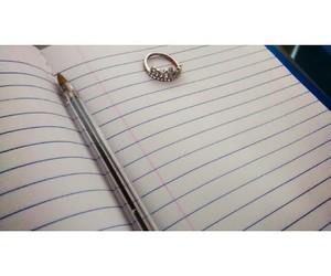 anel, azul, and caderno image