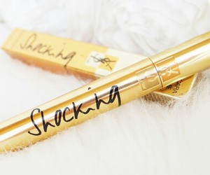 gold, mascara, and YSL image