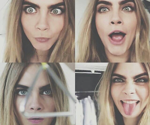 faces, cara delevingne, and blonde image