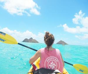 girl, beach, and adventure image