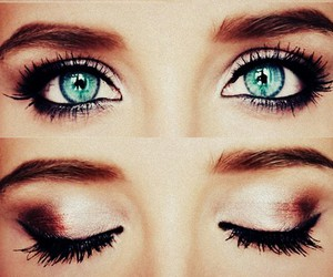 eyes, blue, and make up image