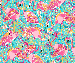 animals, love, and flamingo image