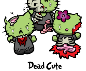 hello kitty and zombie image