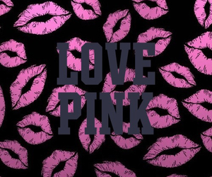 kiss, wallpaper, and pink image